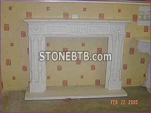 White Marble Fireplace49