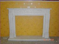 White Marble Fireplace50