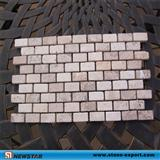Chinese Travertine Mosaic Tile