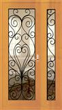 Wrought iron door panel