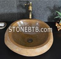 Cobble stone sink