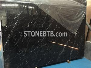 Chinese Nero Marquinia Marble Tile & Slab Cut to Size and Slabs