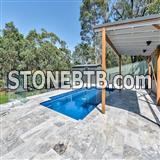 Silver Blue Travertine