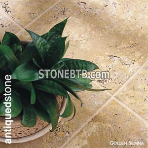 Golden Sienna Antique Travertine