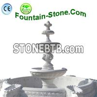 Garden Marble Water Fountain With Pool