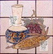 Kitchen Backsplash Mural Inlay Art Tile