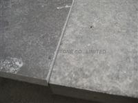 honed and flamed blue limestone tiles