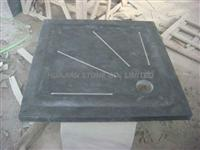 blue limestone shower tray