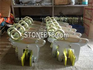 Stone suspension clamps applications and pictures