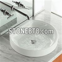 Kavala White Marble Bath Top