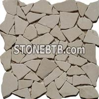 Botticino Marble Mosaic table top stone mosaic ceramic mosaic glass mosaic water jet antique stone mosaic pebble tile herringbone tile