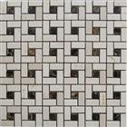 Dark Lmperador Crema Marfil Mixed Mosaic stone metal copper glass ceramic porcelain mosaic mesh tiles