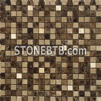Dark Emperador Light Emperador copper ceramic tiles Mixed Mosaic