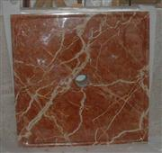 Rojo Alicante Marble Shower Pan