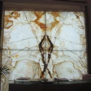 White Onyx Laminated With Glass Big Panel
