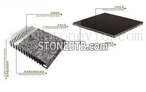 Laminated Aluminum honeycomb backing granite and marble panel