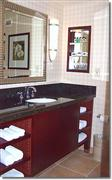 Hotel vanity top with wooden base (cabinet)