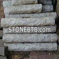 Natural Split Granite Palisade, Garden Landscape