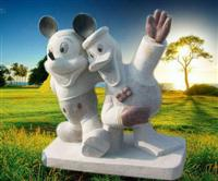 Stone Mickey Mouse & Donald Duck
