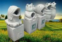 Granite Stone Animal Dustbin