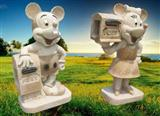 Stone Mickey Mouse Mail Box