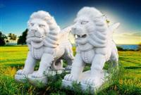 Stone Carving Lion