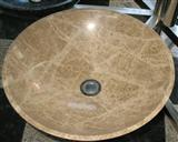 light emperador marble sink
