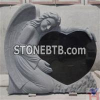 Angle heart tombstone
