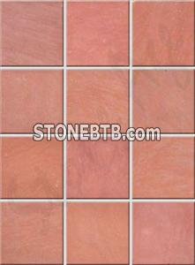 Agra Red One Side Honed Sandstone