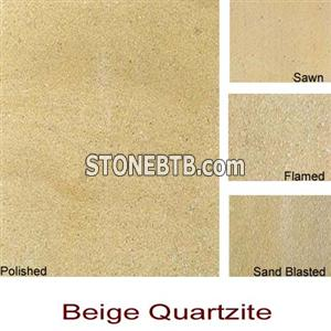 Beige Quartzite Slabs & Tiles