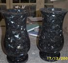 Blue Pearl granite vase