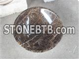 Dark Emperador Marble Sink, Coffee Brown Marble Basin