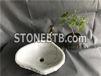 China White Marble Basin, China White Marble Bathroom Sinks