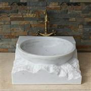 China Guangxi White Sink,China White Marble Basin