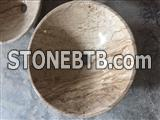 Brown Travertine Bathroom Sinks