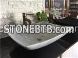 White Carrara Marble Sinks,Marble Basin