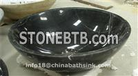 China Black Marquina Marble Sinks,Stone Basins