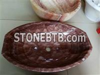Red Onyx Wash Basins, Chinese Red Onyx Wash Bowl
