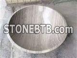 Grey Wooden Marble Wash Basins