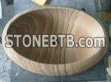 Yellow Sandstone Sinks,Stone Wash Basins
