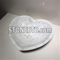 Carrara White Marble Stone Sinks