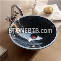 China Black Marble Bathroom Wash Basin