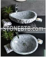 China Carrara White Marble Wash Basins