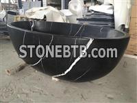 China Black Marble Bathroom Tubs