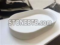 White Jade Marble Washbasin
