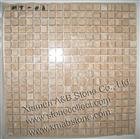 Noce Travertine mosaic tiles MT-06