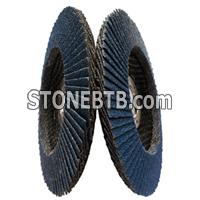 High quality blue calcined aluminum oxide flap disc for stainless steel polishing