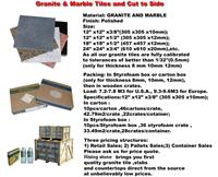 Granite and Marble Tiles (Cut to Size)