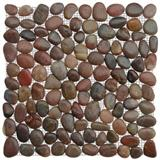 Polished Red Pebble Tile