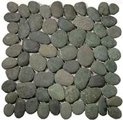 Unpolished Pebble Tile - Black